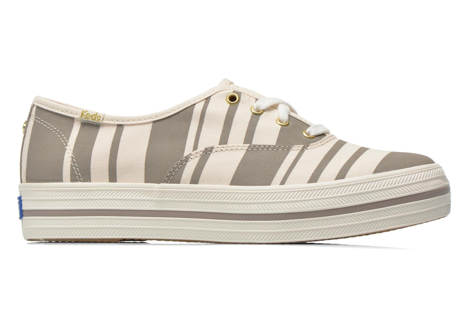 Trainers Keds Triple Fairemont Stripe Grey back view