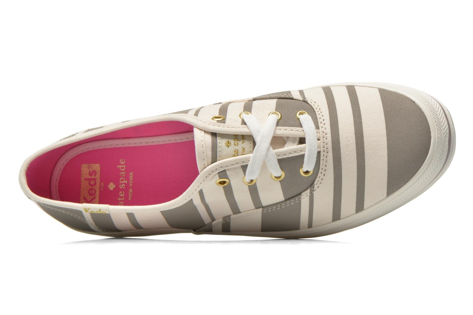 Sneaker Keds Triple Fairemont Stripe grau ansicht von links