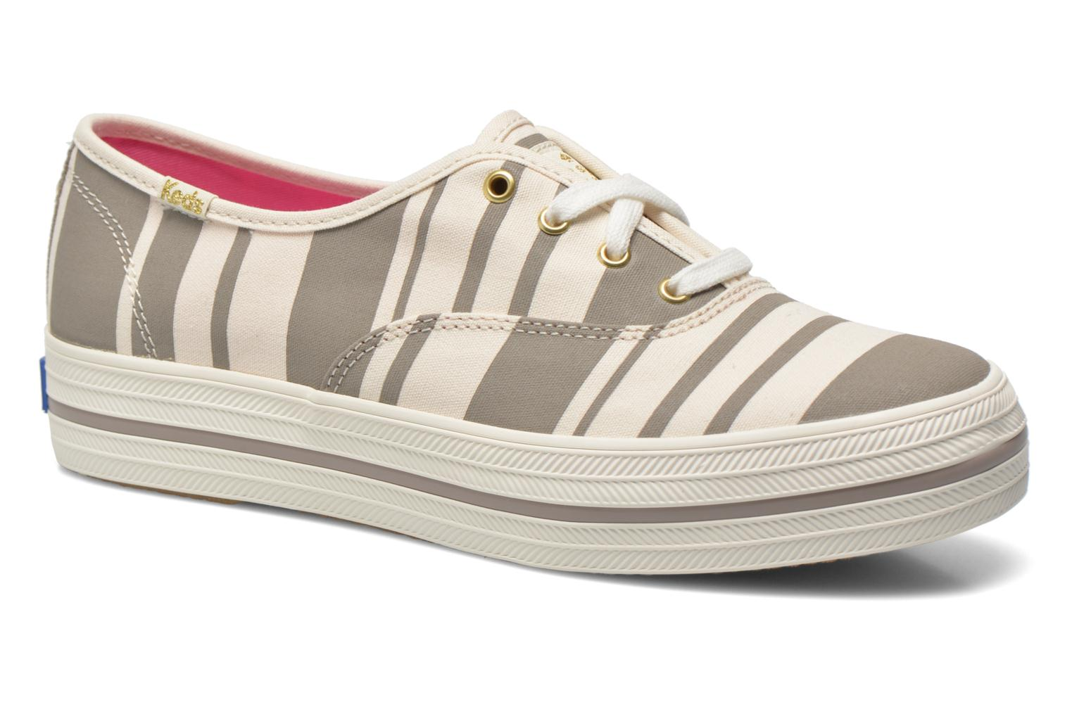 Trainers Keds Triple Fairemont Stripe Grey detailed view/ Pair view
