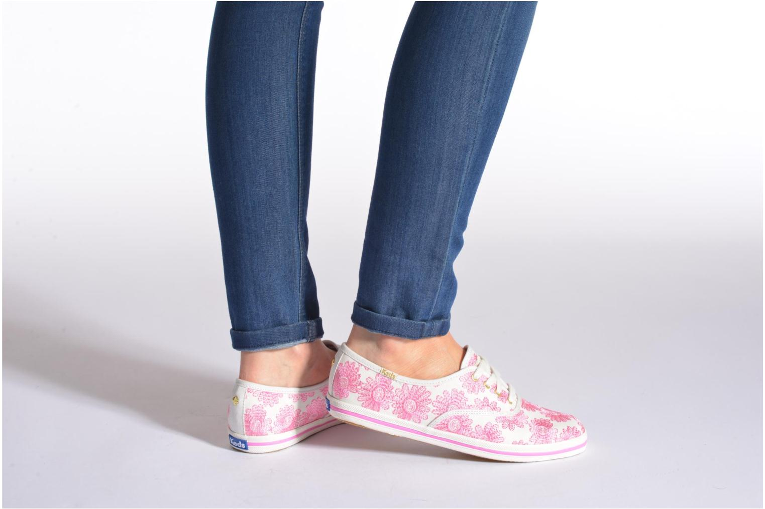 Trainers Keds Ch Daisy Embroidery Black view from underneath / model view