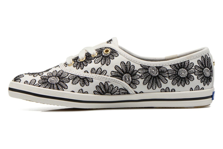 Sneaker Keds Ch Daisy Embroidery schwarz ansicht von vorne