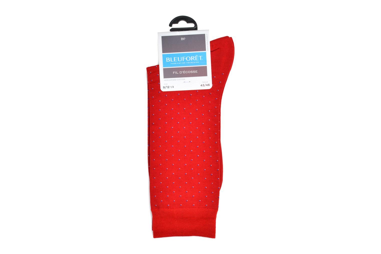 Chaussettes et collants BLEUFORÊT Chaussettes PLUMETIS F.E Rouge vue derrière
