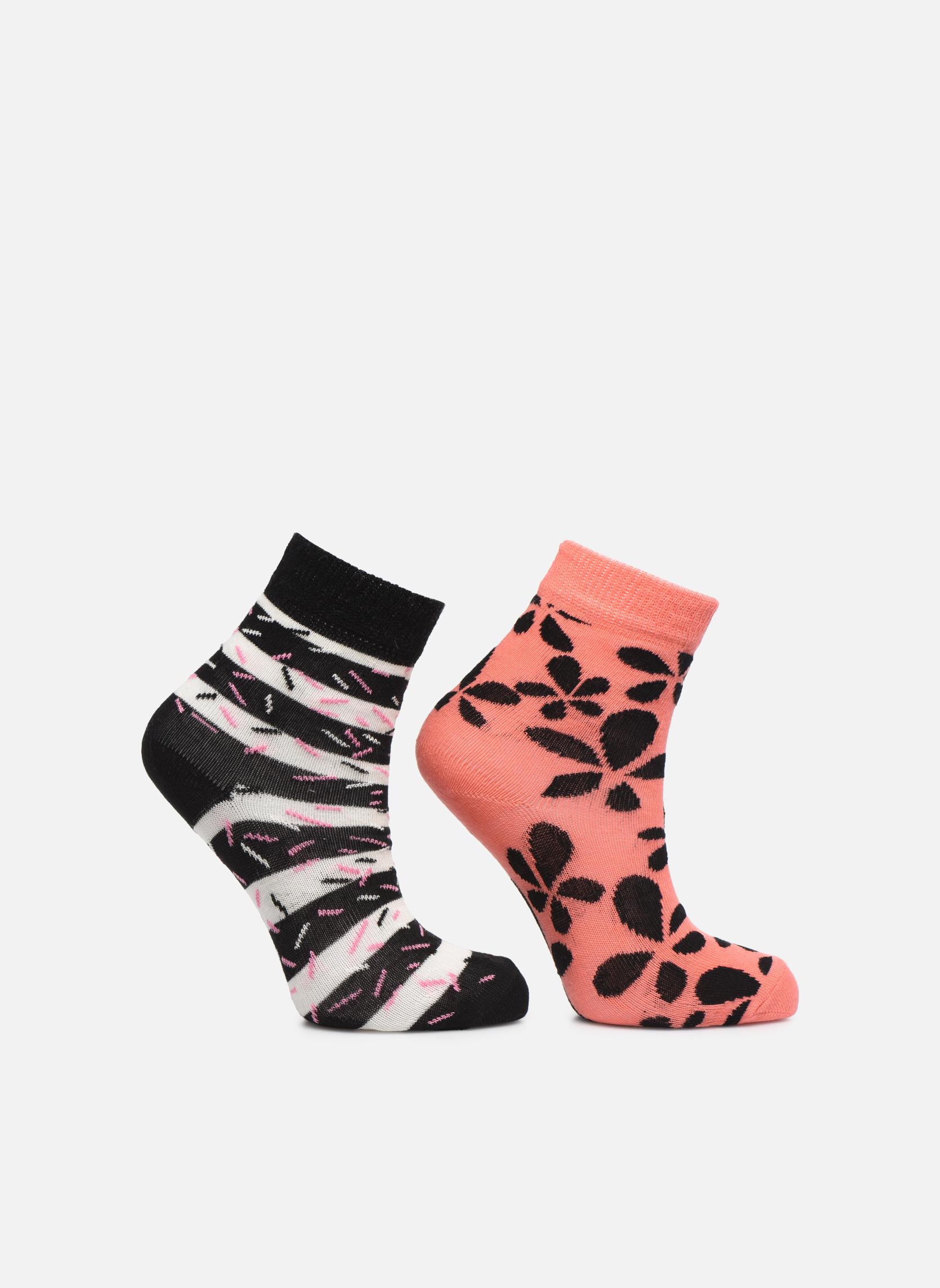 Chaussettes et collants Happy Socks Chaussettes FLOWER Pack de 2 Multicolore vue détail/paire