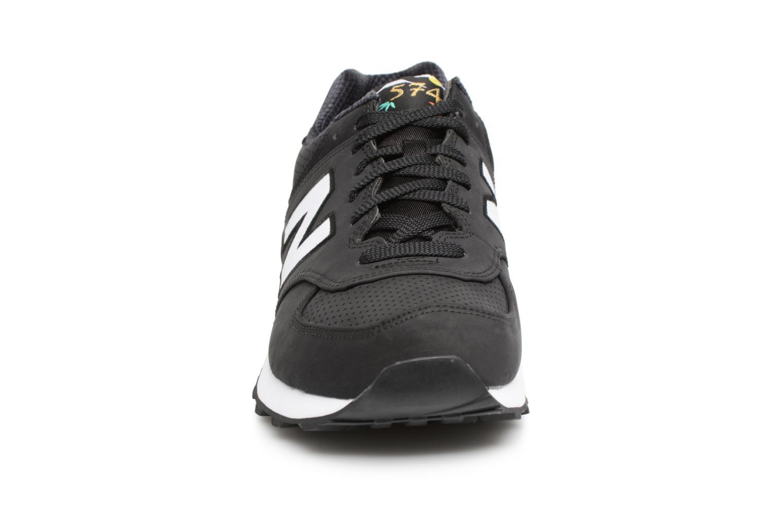 Sneaker New Balance ML574 D schwarz schuhe getragen