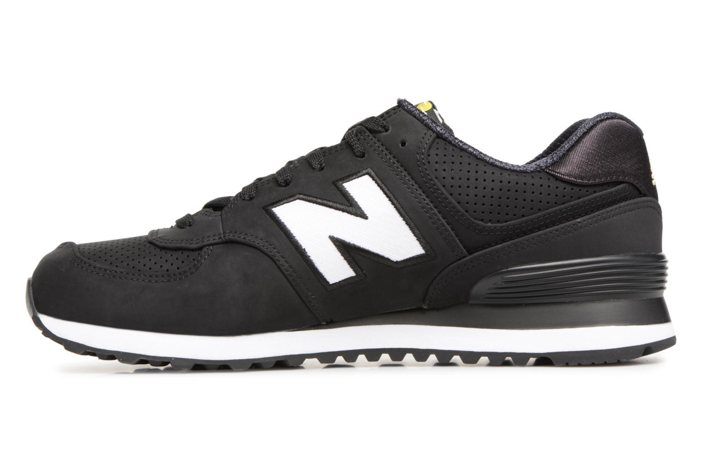 Sneaker New Balance ML574 D schwarz ansicht von vorne