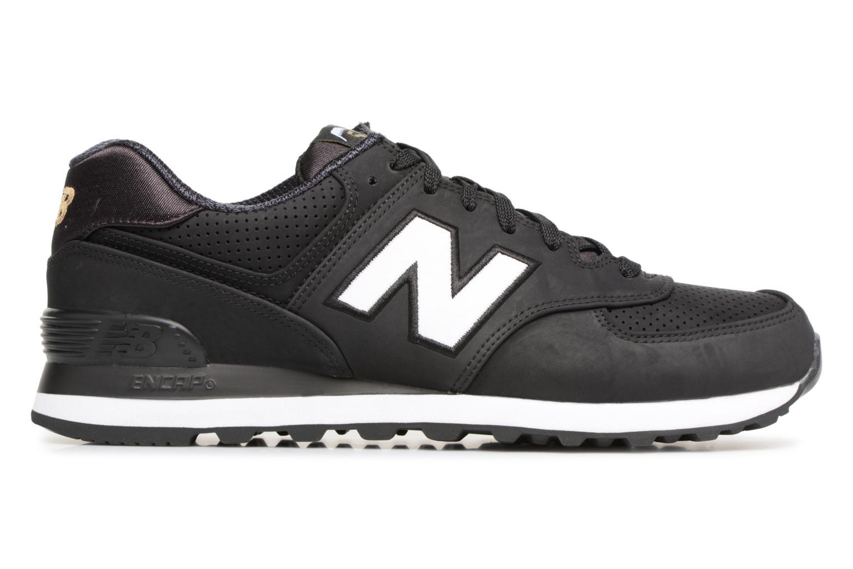 Sneaker New Balance ML574 D schwarz ansicht von hinten