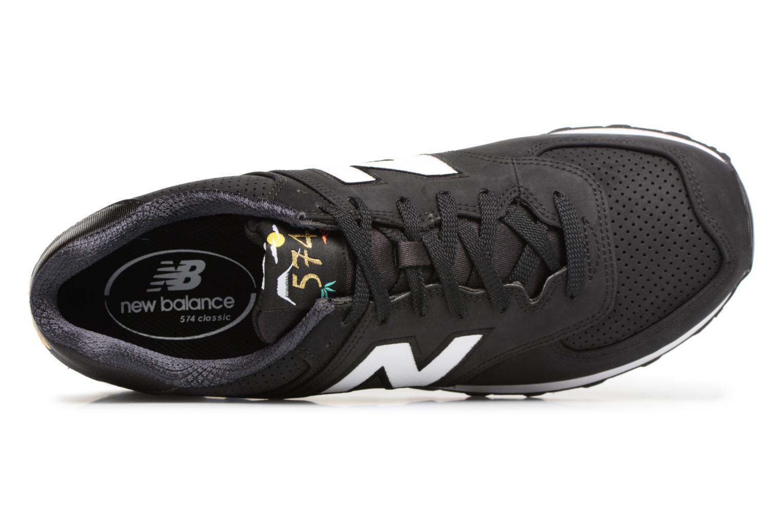 Sneaker New Balance ML574 D schwarz ansicht von links