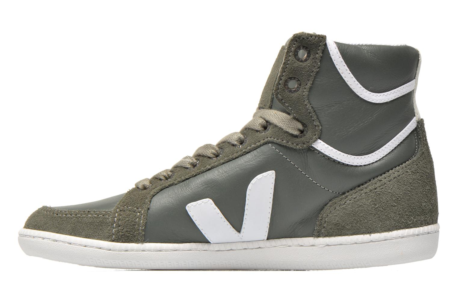 Trainers Veja Spma leather Grey front view