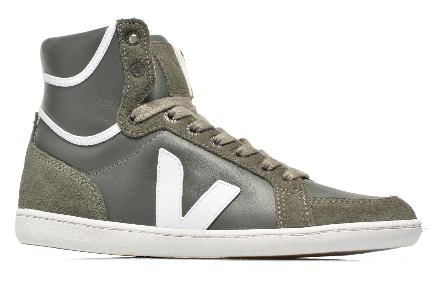 Trainers Veja Spma leather Grey back view