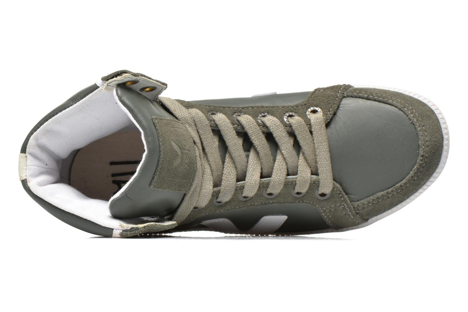 Trainers Veja Spma leather Grey view from the left