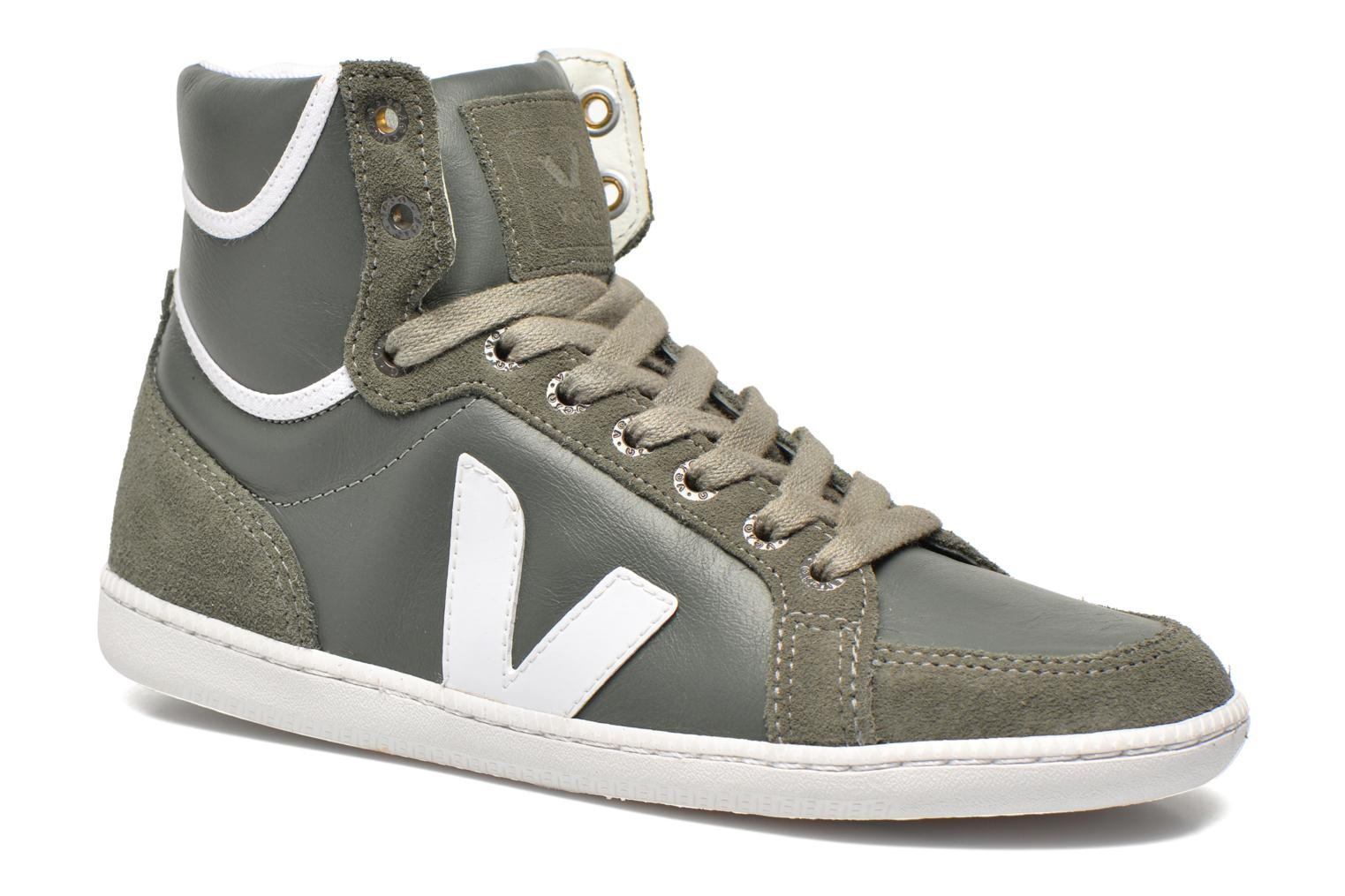 Trainers Veja Spma leather Grey detailed view/ Pair view