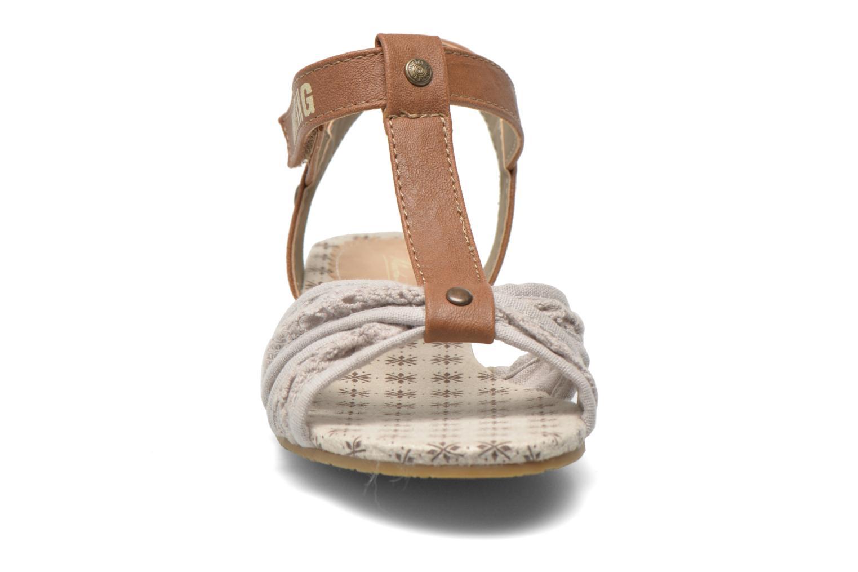 Sandalen Mustang shoes Neele beige schuhe getragen