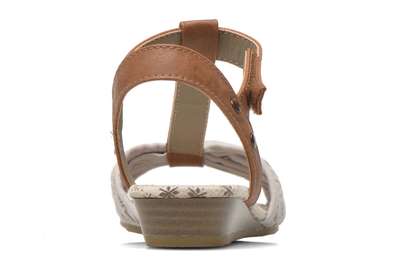 Sandalen Mustang shoes Neele beige ansicht von rechts