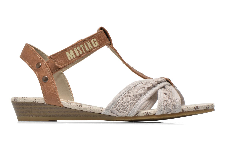 Sandalen Mustang shoes Neele beige ansicht von hinten