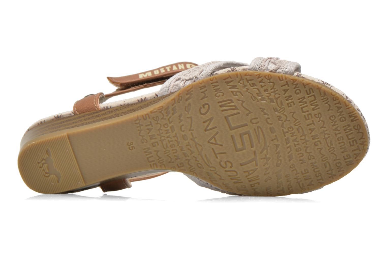 Sandalen Mustang shoes Neele beige ansicht von oben