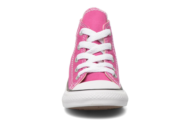 Sneaker Converse Chuck Taylor All Star Hi rosa schuhe getragen