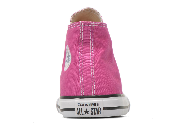 Sneaker Converse Chuck Taylor All Star Hi rosa ansicht von rechts