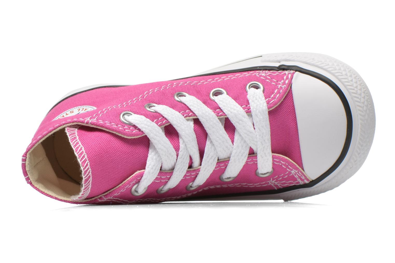 Sneaker Converse Chuck Taylor All Star Hi rosa ansicht von links
