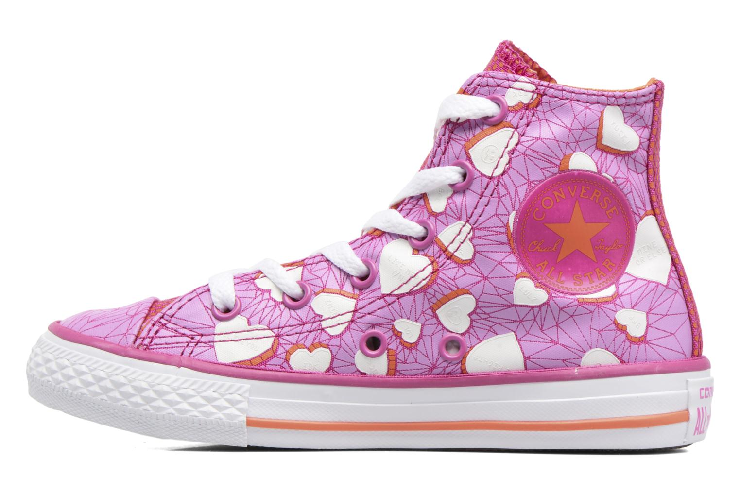 Baskets Converse Chuck Taylor All Star Hi Violet vue face