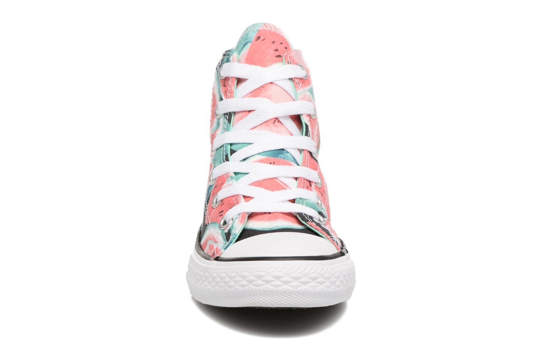 Baskets Converse Chuck Taylor All Star Hi Multicolore vue portées chaussures