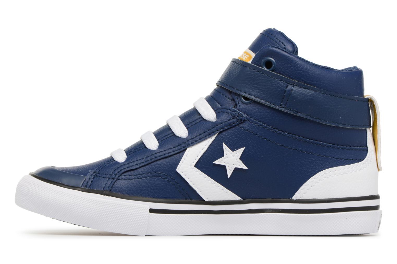 Baskets Converse Pro Blaze Strap Stretch Hi Sport Leather Bleu vue face