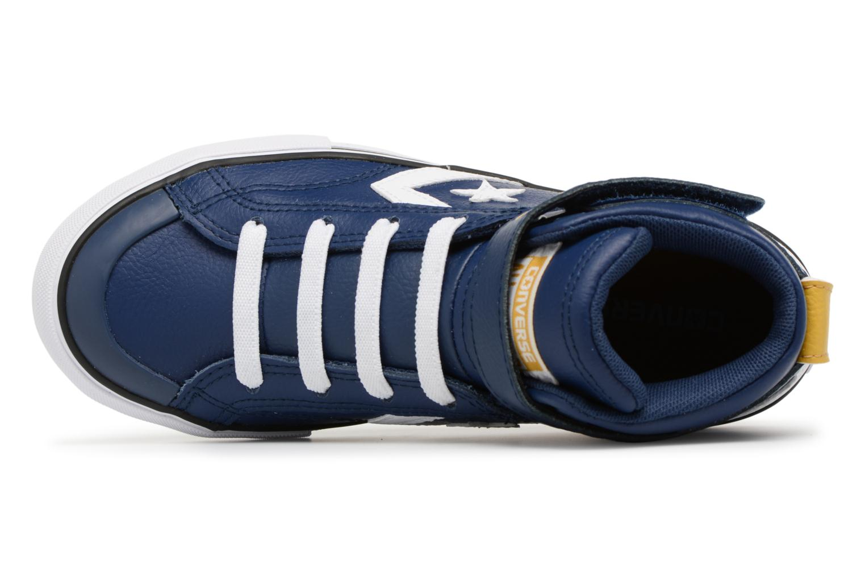 Baskets Converse Pro Blaze Strap Stretch Hi Sport Leather Bleu vue gauche