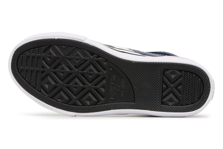 Baskets Converse Pro Blaze Strap Stretch Hi Sport Leather Bleu vue haut