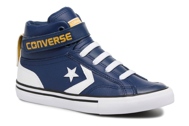 Baskets Converse Pro Blaze Strap Stretch Hi Sport Leather Bleu vue détail/paire