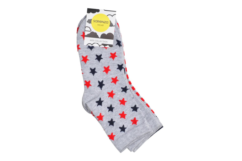 Chaussettes enfant Pack de 3 coton Gris chiné/navy/rouge