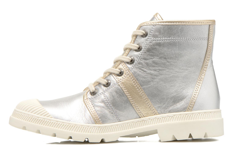 Sneaker Pataugas Auth/MC silber ansicht von vorne