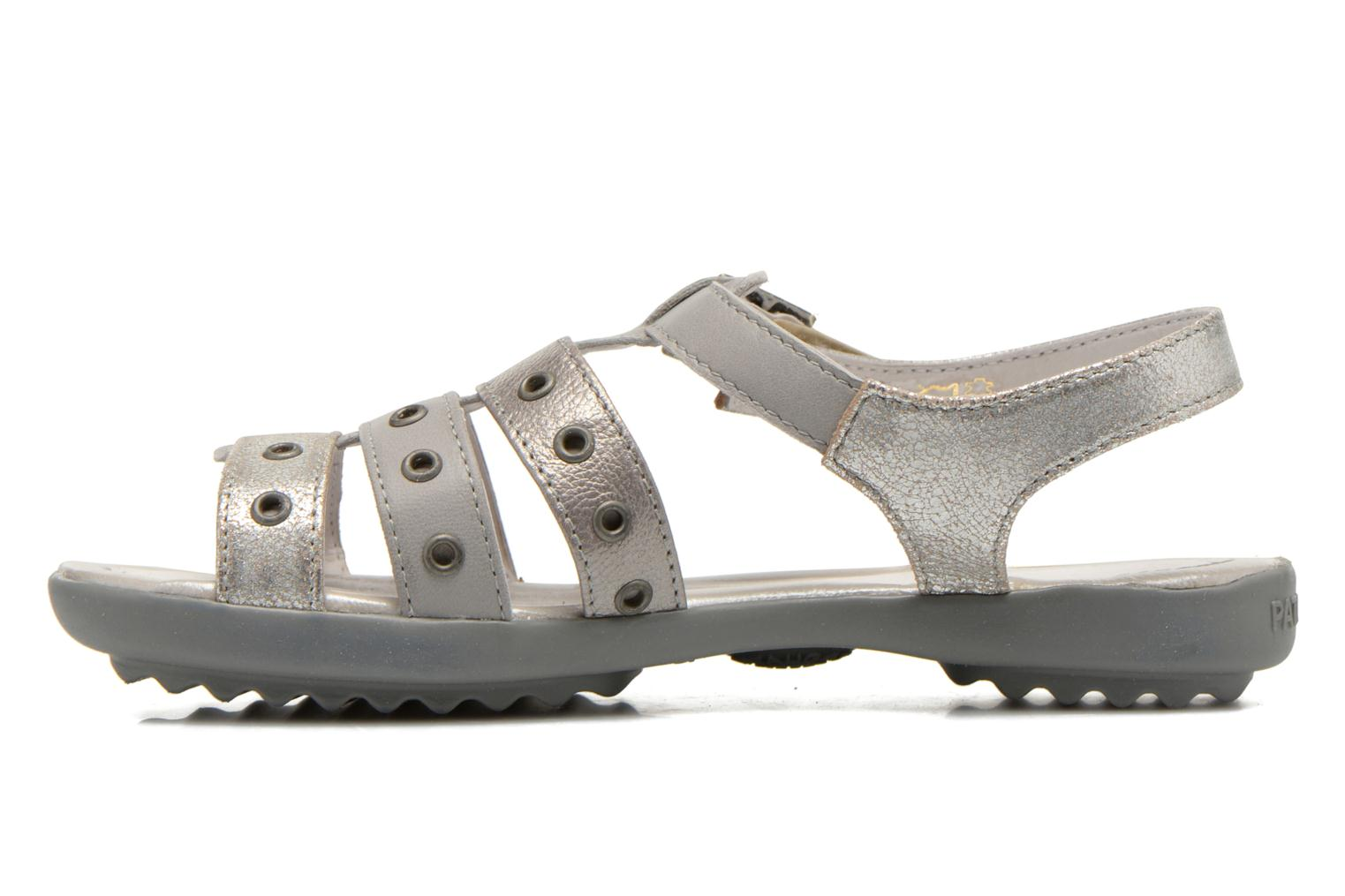 Sandals Pataugas Cello Silver front view