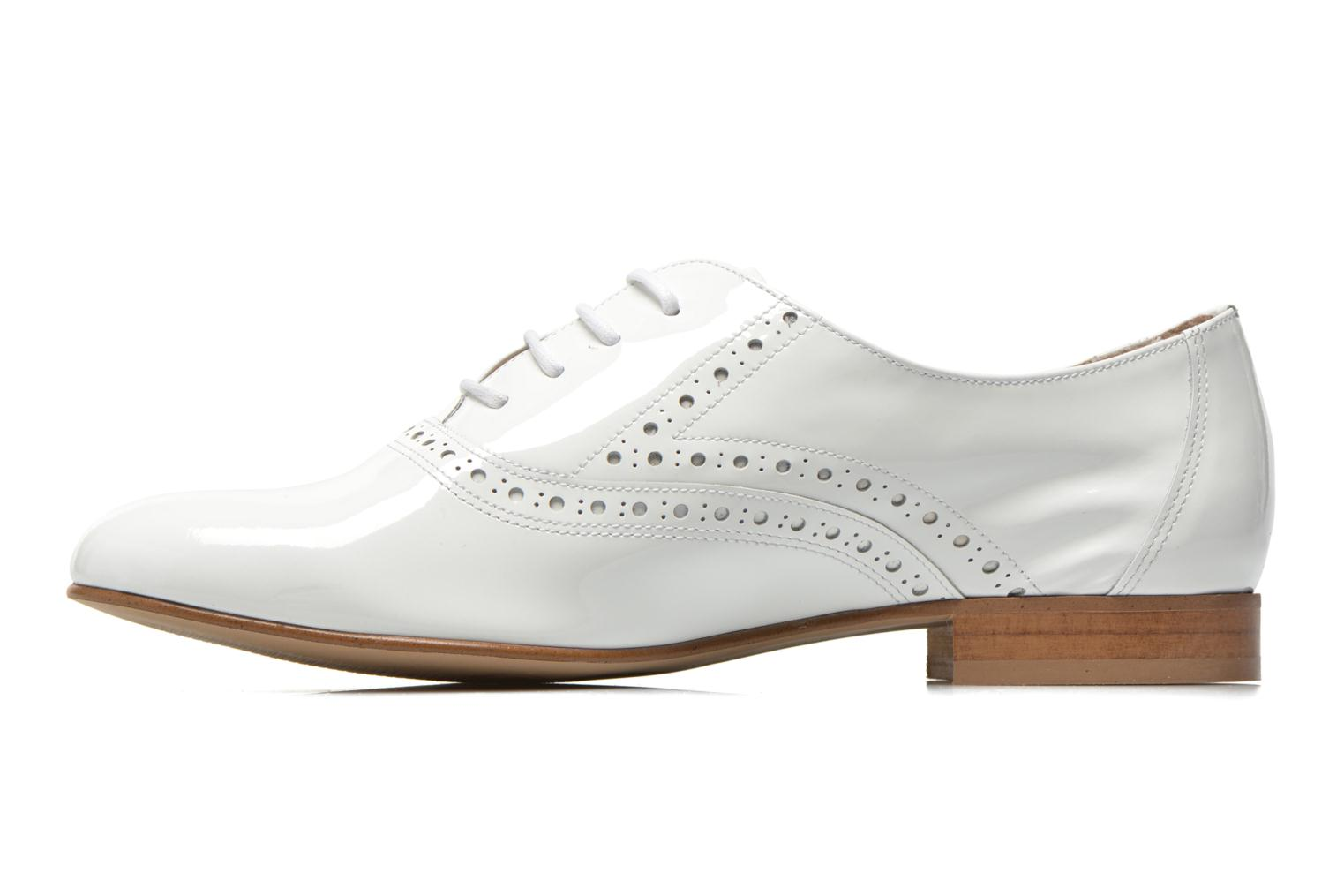 Lace-up shoes Minelli F61 430/VER White front view