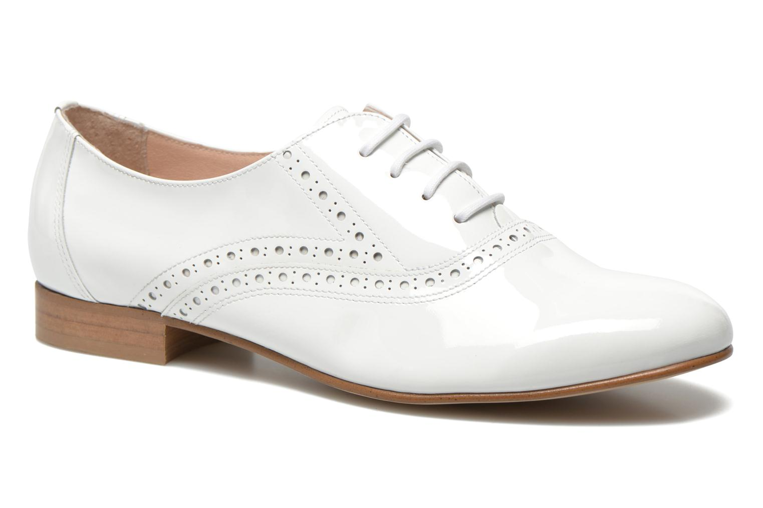 Lace-up shoes Minelli F61 430/VER White detailed view/ Pair view