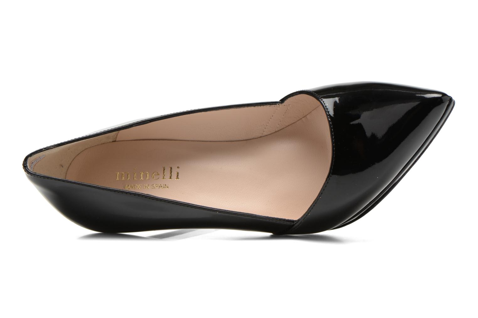 High heels Minelli F91 610/VER Black view from the left