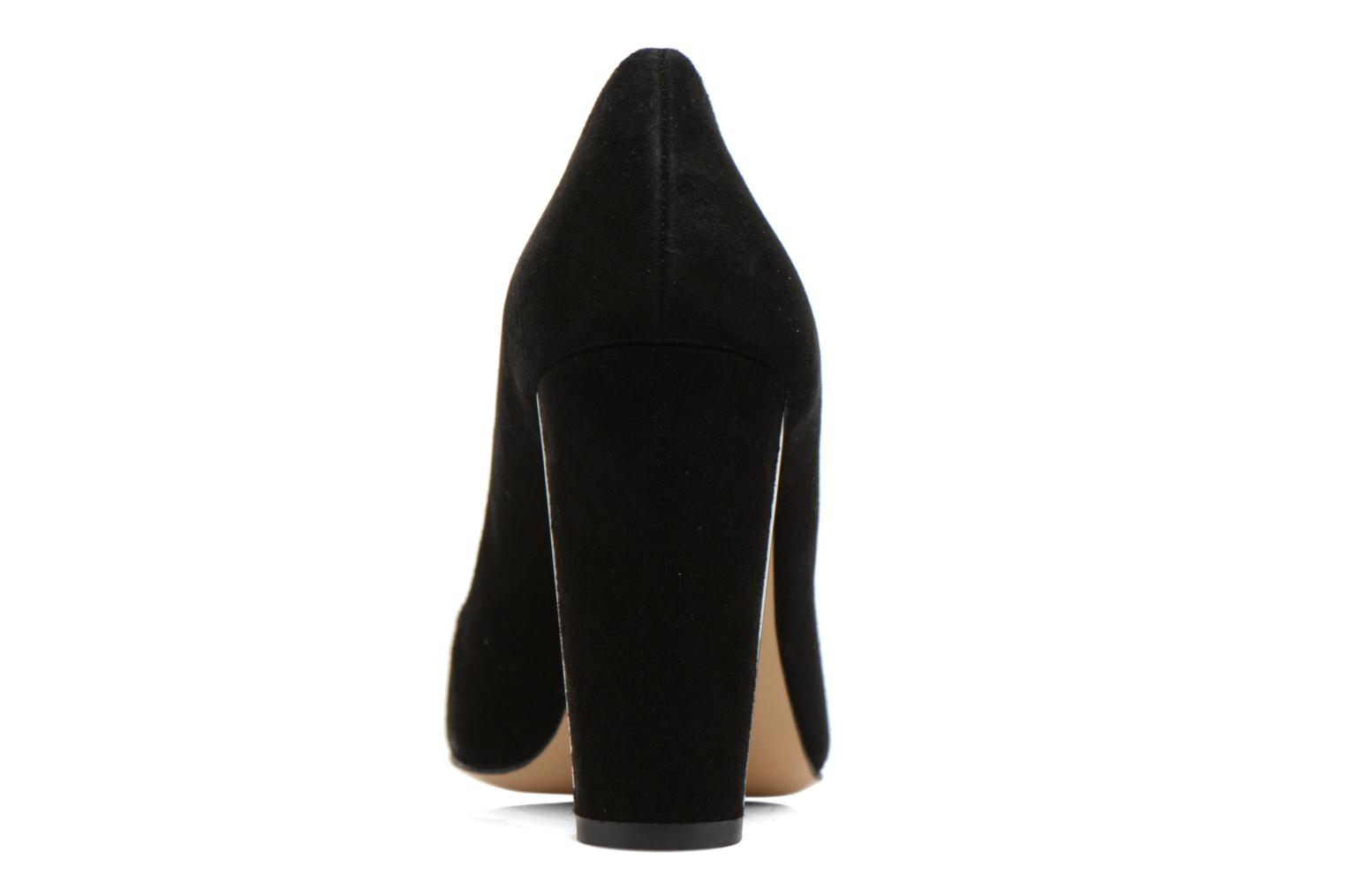 High heels Minelli F91 730/VEL Black view from the right