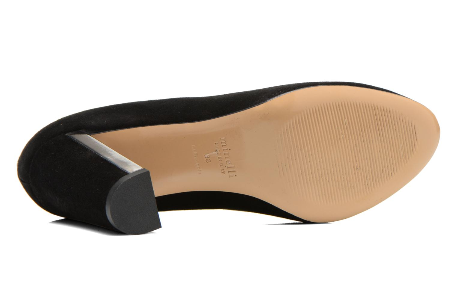 High heels Minelli F91 730/VEL Black view from above