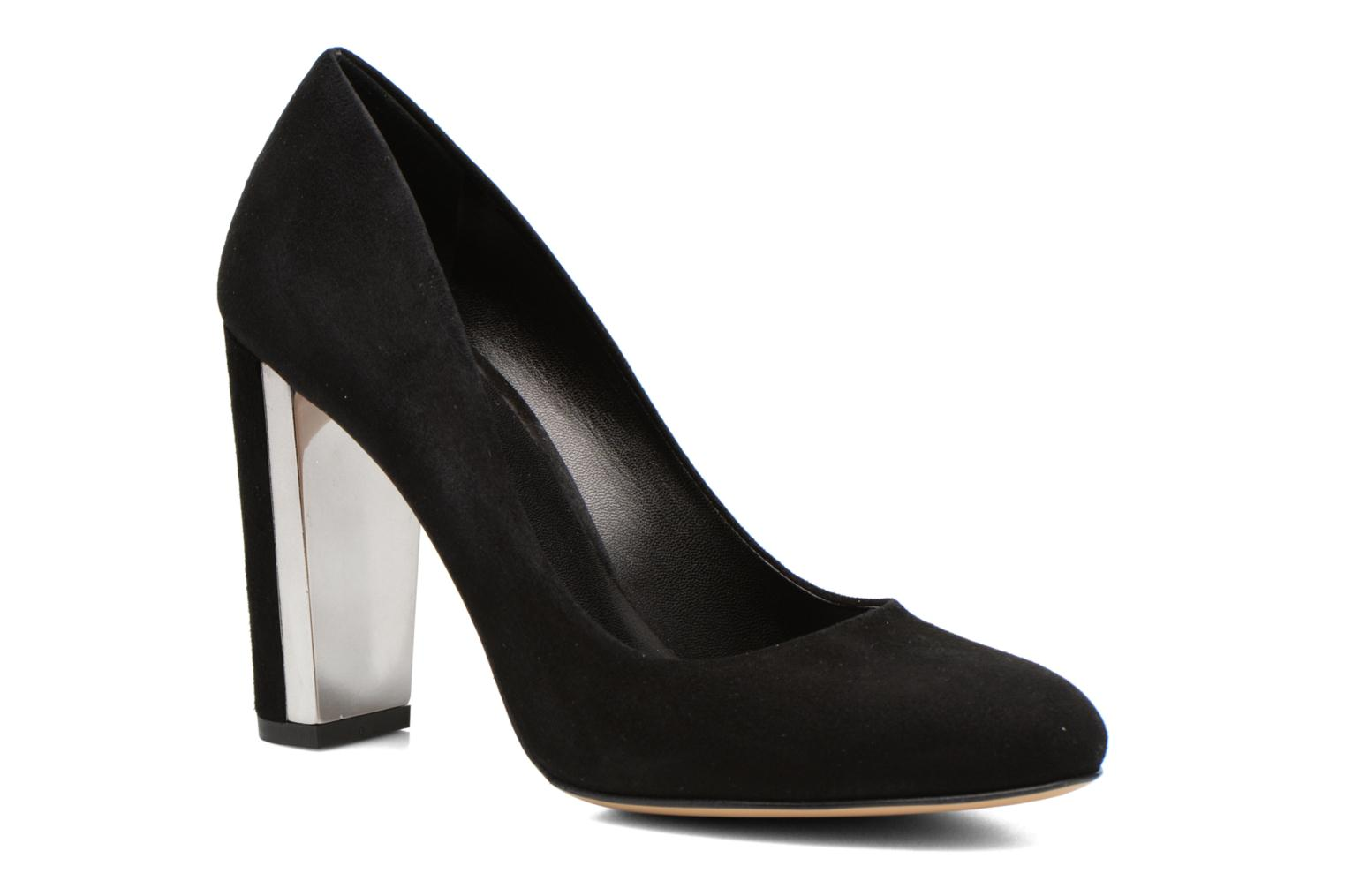 High heels Minelli F91 730/VEL Black detailed view/ Pair view