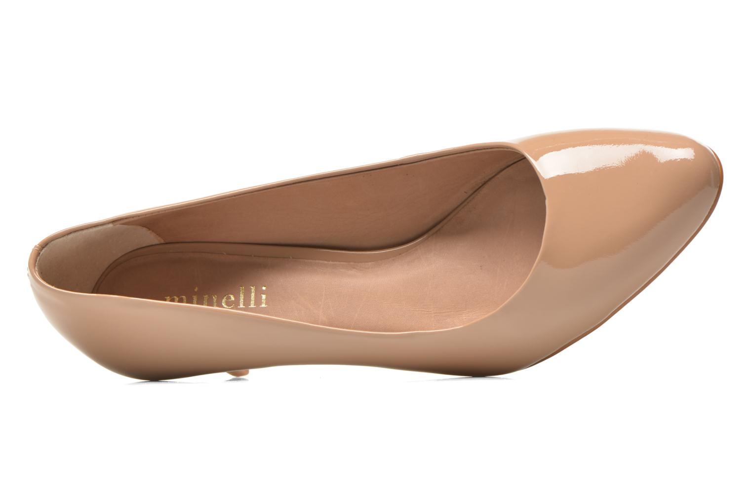 High heels Minelli F91 400/VER Beige view from the left