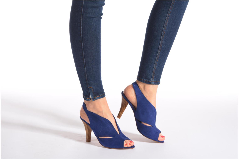 Sandales et nu-pieds Minelli F93 276/VEL Bleu vue bas / vue portée sac