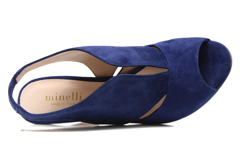 Sandalias Minelli F93 276/VEL Azul vista lateral izquierda