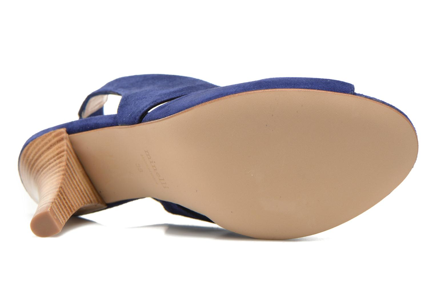 Sandals Minelli F93 276/VEL Blue view from above