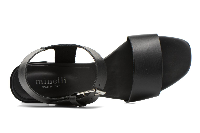 Sandales et nu-pieds Minelli F93 879 Noir vue gauche