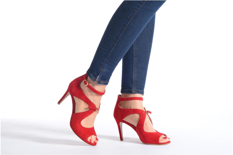 Sandales et nu-pieds Minelli F93 652/VEL Rouge vue bas / vue portée sac