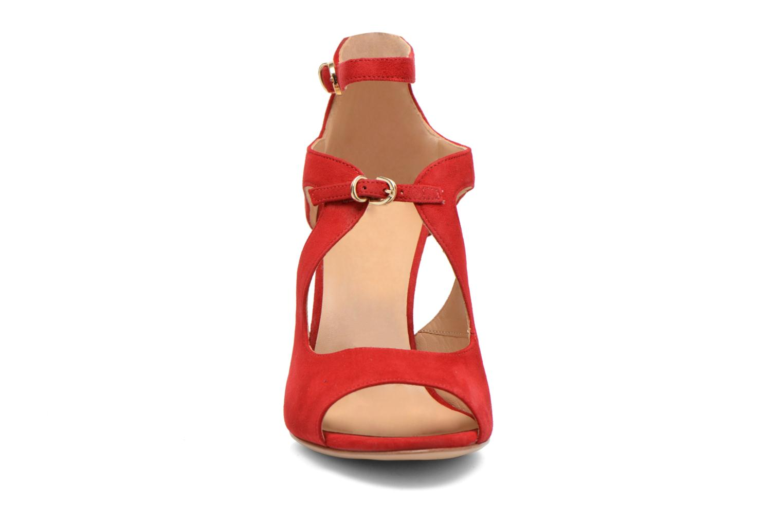 Sandales et nu-pieds Minelli F93 652/VEL Rouge vue portées chaussures
