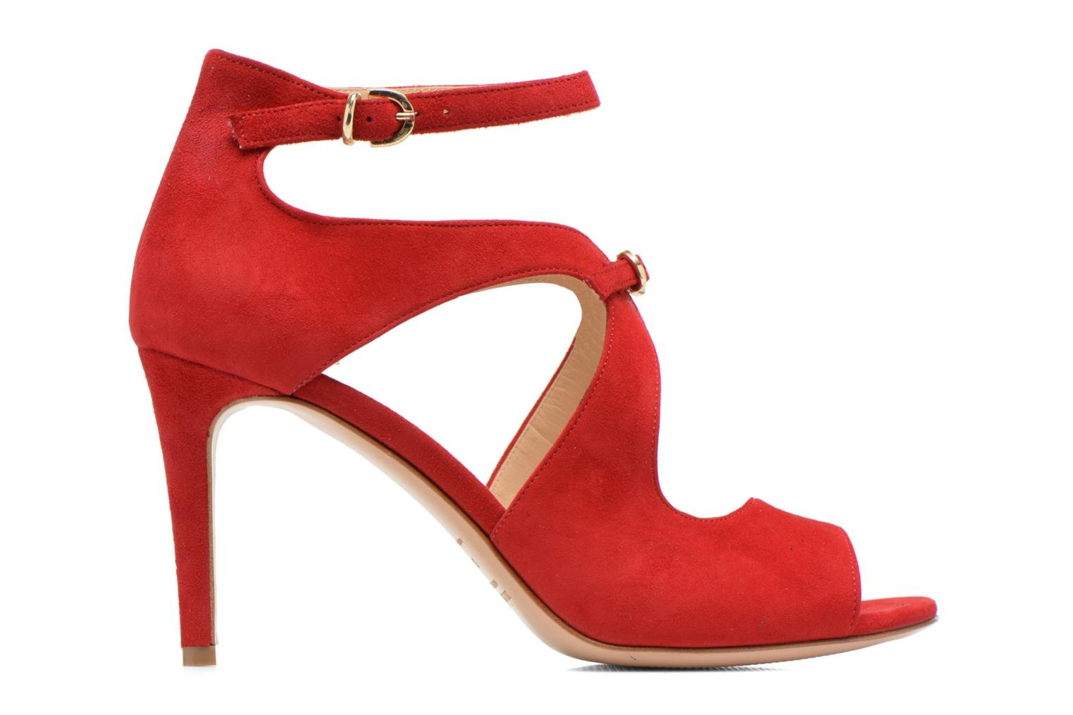 Sandals Minelli F93 652/VEL Red back view