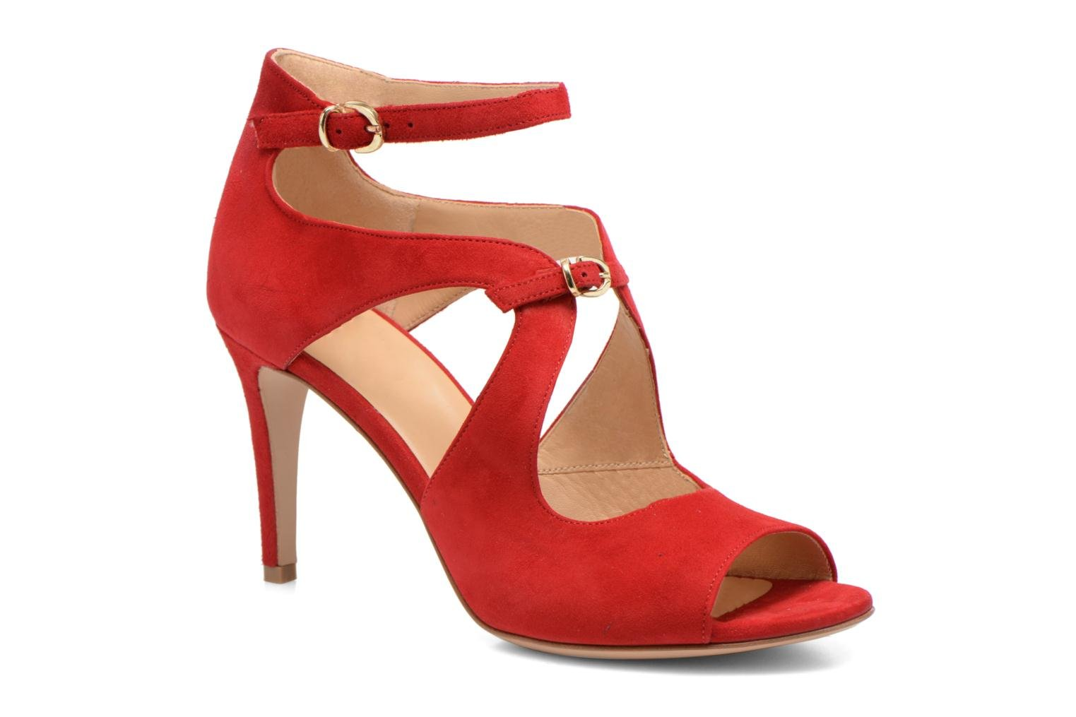 Sandals Minelli F93 652/VEL Red detailed view/ Pair view