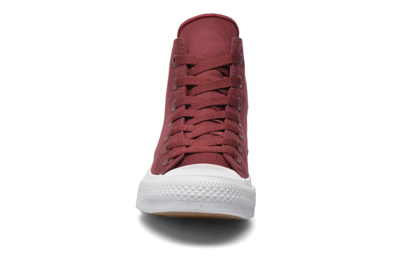 Baskets Converse Chuck Taylor All Star II Hi W Bordeaux vue portées chaussures
