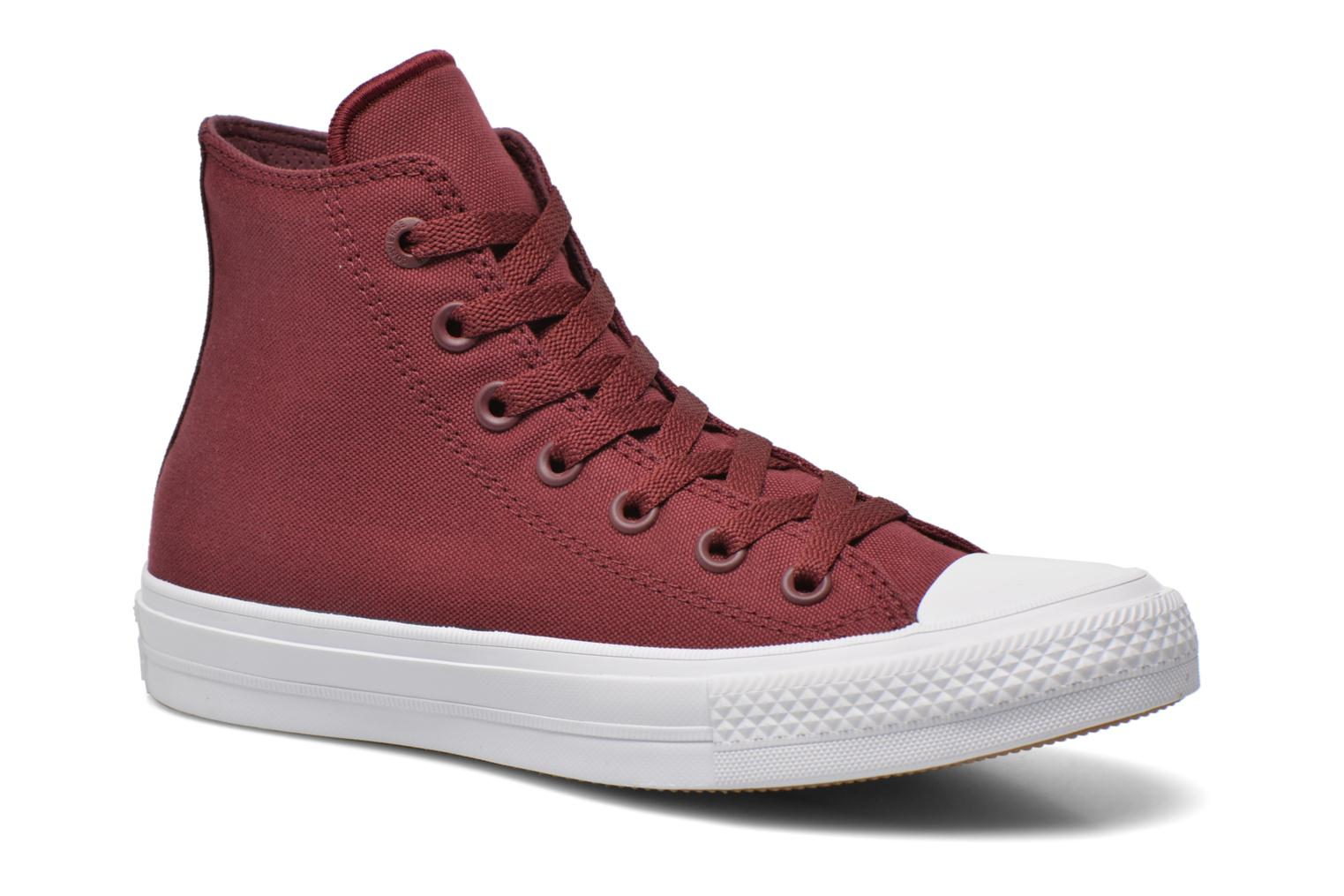 Chuck Taylor All Star II Hi W Bordeaux-White