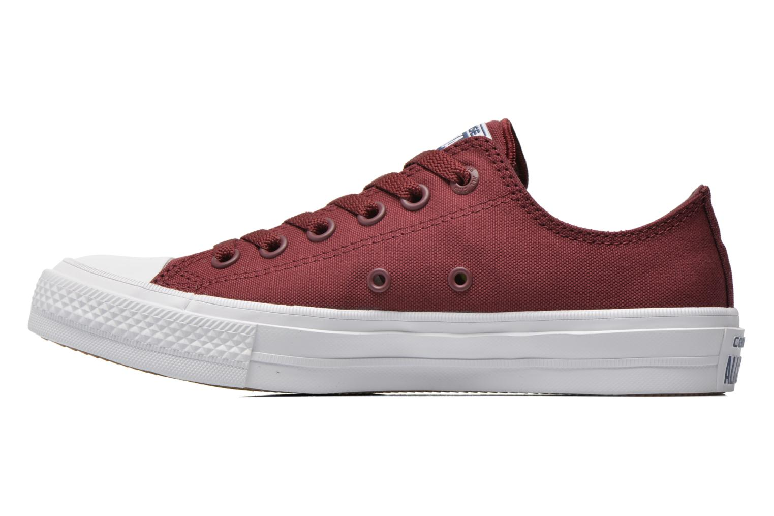 Baskets Converse Chuck Taylor All Star II Ox W Bordeaux vue face