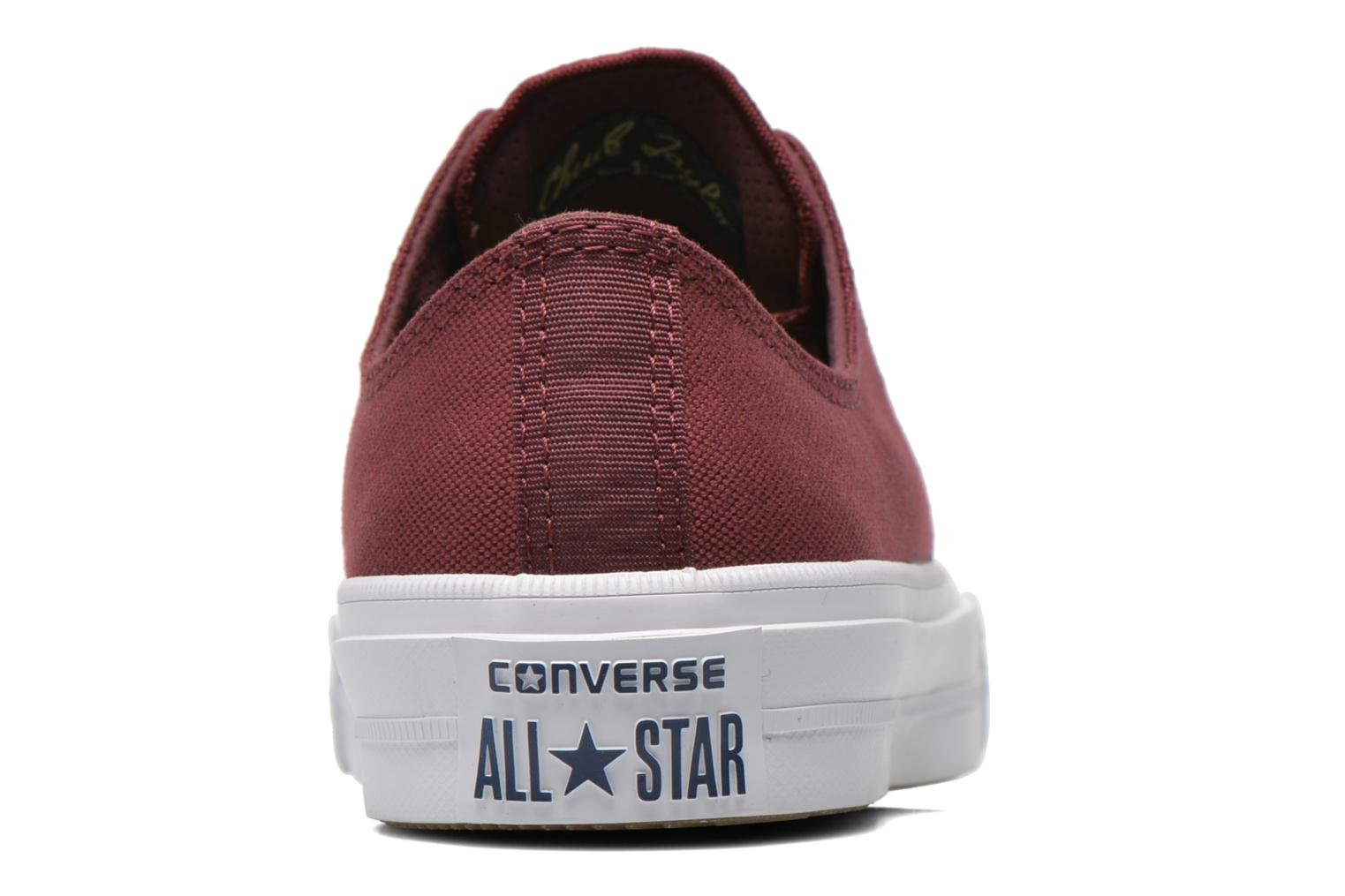 Trainers Converse Chuck Taylor All Star II Ox W Burgundy view from the right